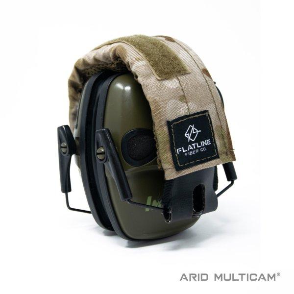 Ear Pro Wrap, Arid Multicam | Flatline Fiber Co.