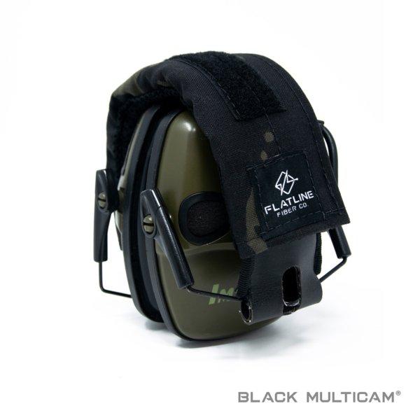 Ear Pro Wrap, Black Multicam | Flatline Fiber Co.