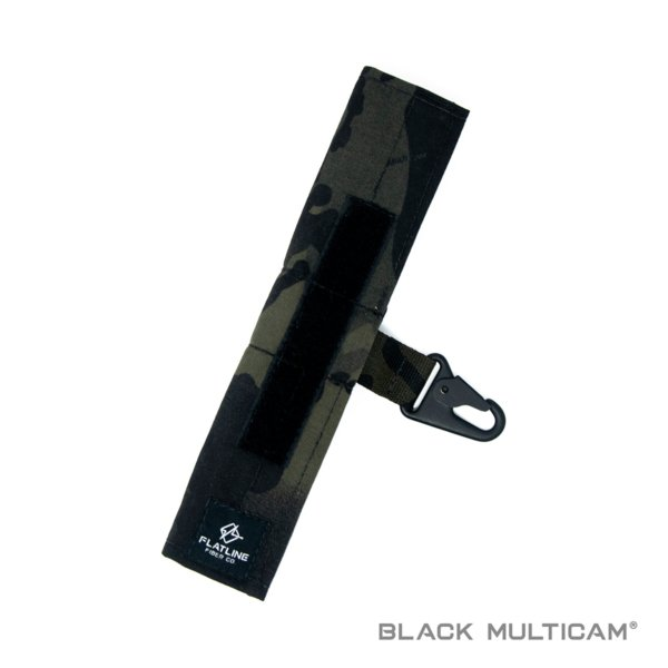 Ear Pro Wrap w Lanyard, Black Multicam | Flatline Fiber Co.