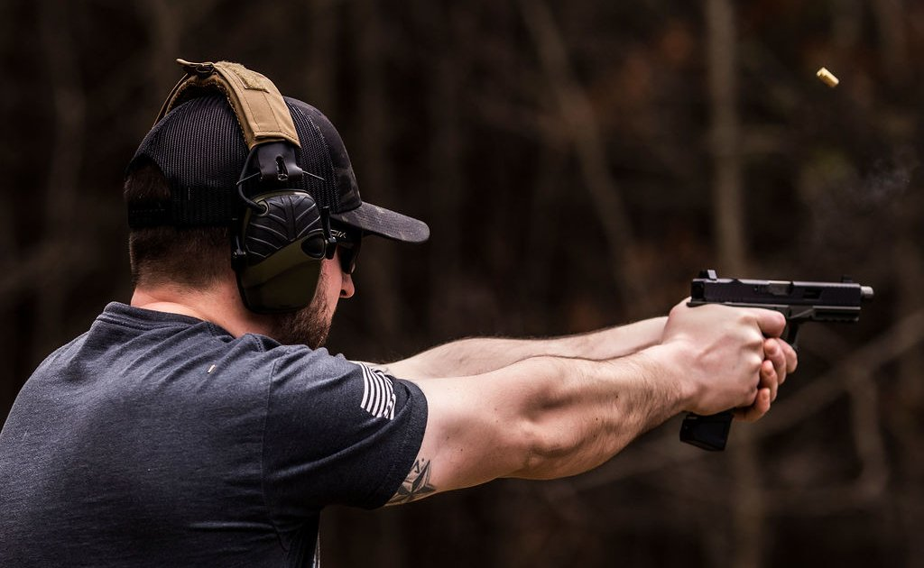 Shooting Pistol Action | Flatline Fiber Co.